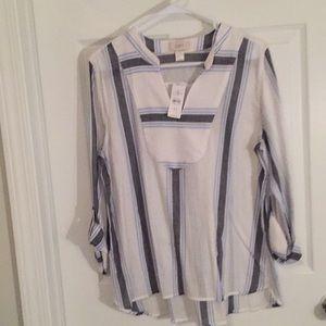 Ann Taylor LOFT Striped Tunic
